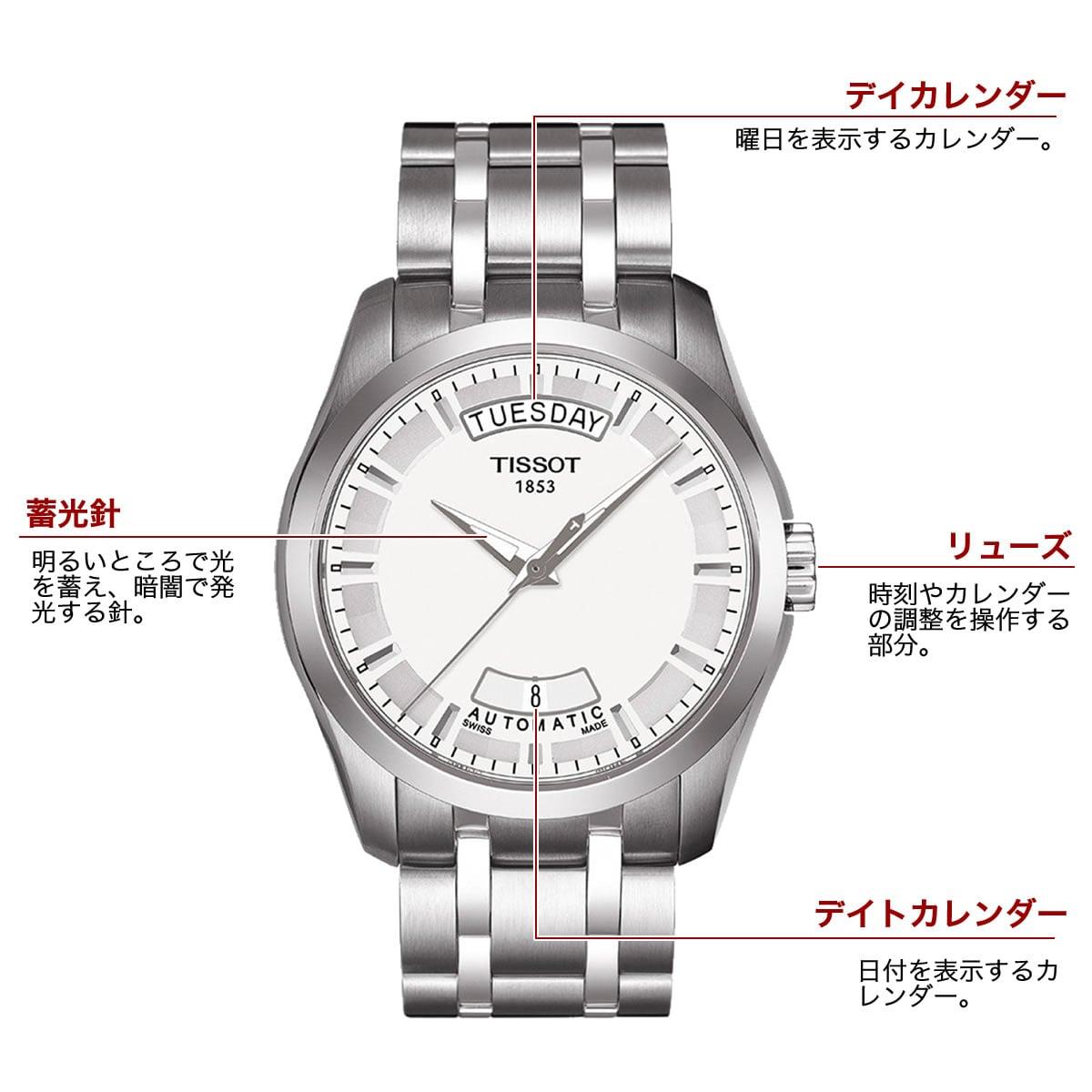 ティソ 自動巻き 男性用腕時計t0354071103100