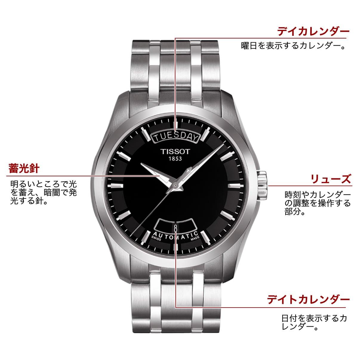 ティソ 自動巻き 男性用腕時計t0354071105100