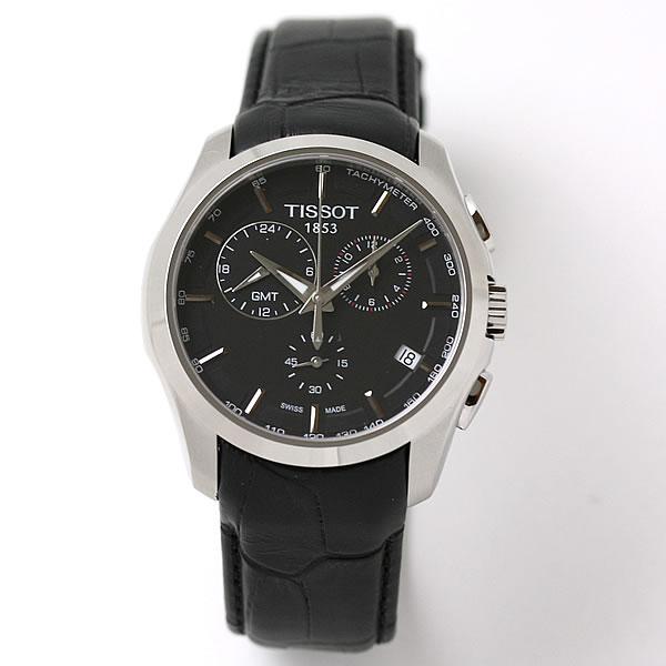 ティソ(TISSOT)クチュリエ GMT ブラック T0354391605100