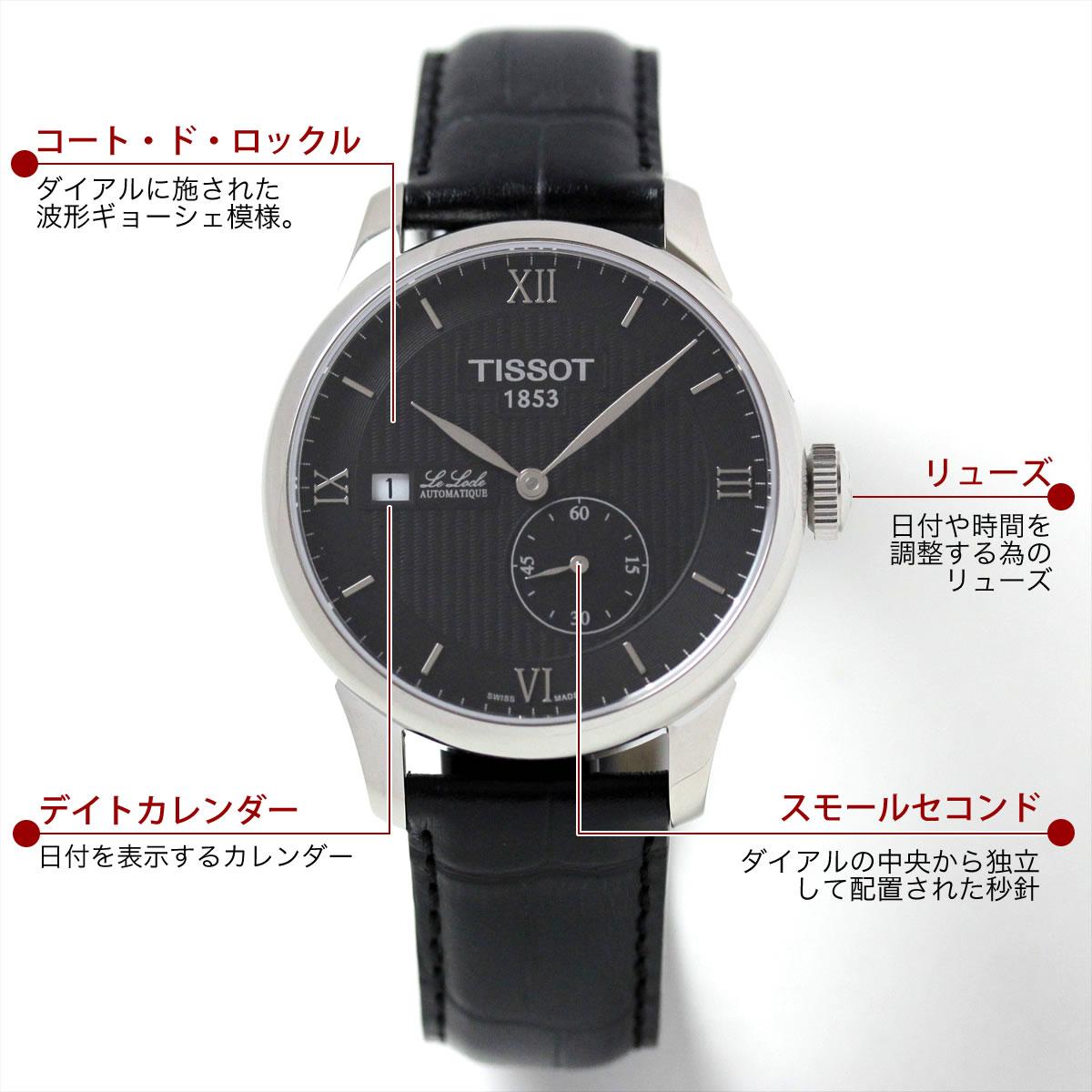 Tissot(ティソ)LE LOCLE AUTOMATIC (ル・ロックル オートマティック )T006.428.16.058.00機能説明
