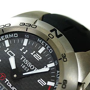 TISSOT ティソ T-TOUCH2 腕時計 双方向回転ベゼル 風防・サファイアクリスタル