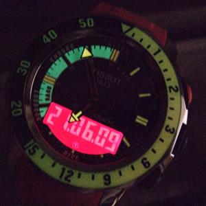 デジタル部分にバックライトを点灯可能