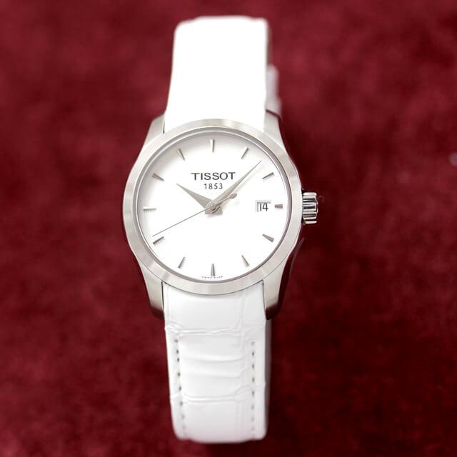 T035.410.16.051.00 ティソ TISSOT クチュリエ 腕時計 正美堂女性スタッフ着用画像