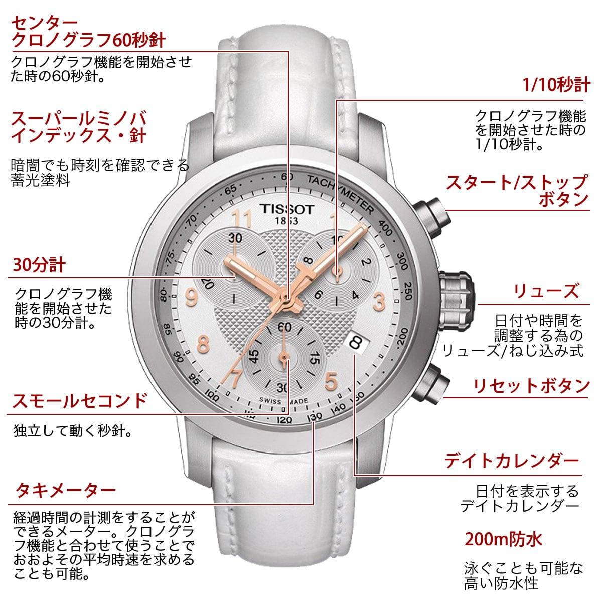 ティソ クォーツ クロノグラフ 女性用腕時計 t0970102611800