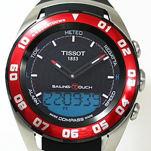 TISSOT ティソ セーリングタッチ 腕時計 風防・サファイアクリスタル