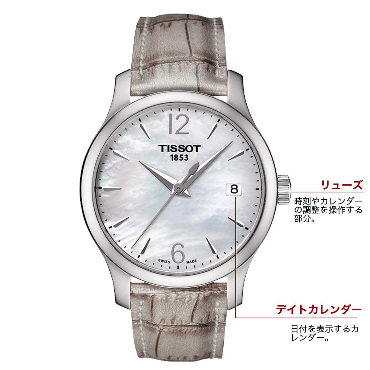 ティソ クォーツ 女性用腕時計t0632101711700