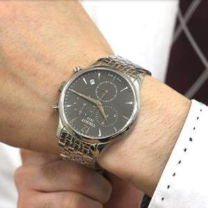 ティソ腕時計 T063.617.11.067.00 腕周り16cmの男性スタッフが着用