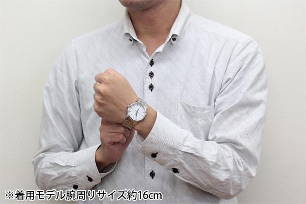 着用モデル腕周りサイズ16cm T085.410.11.011.00