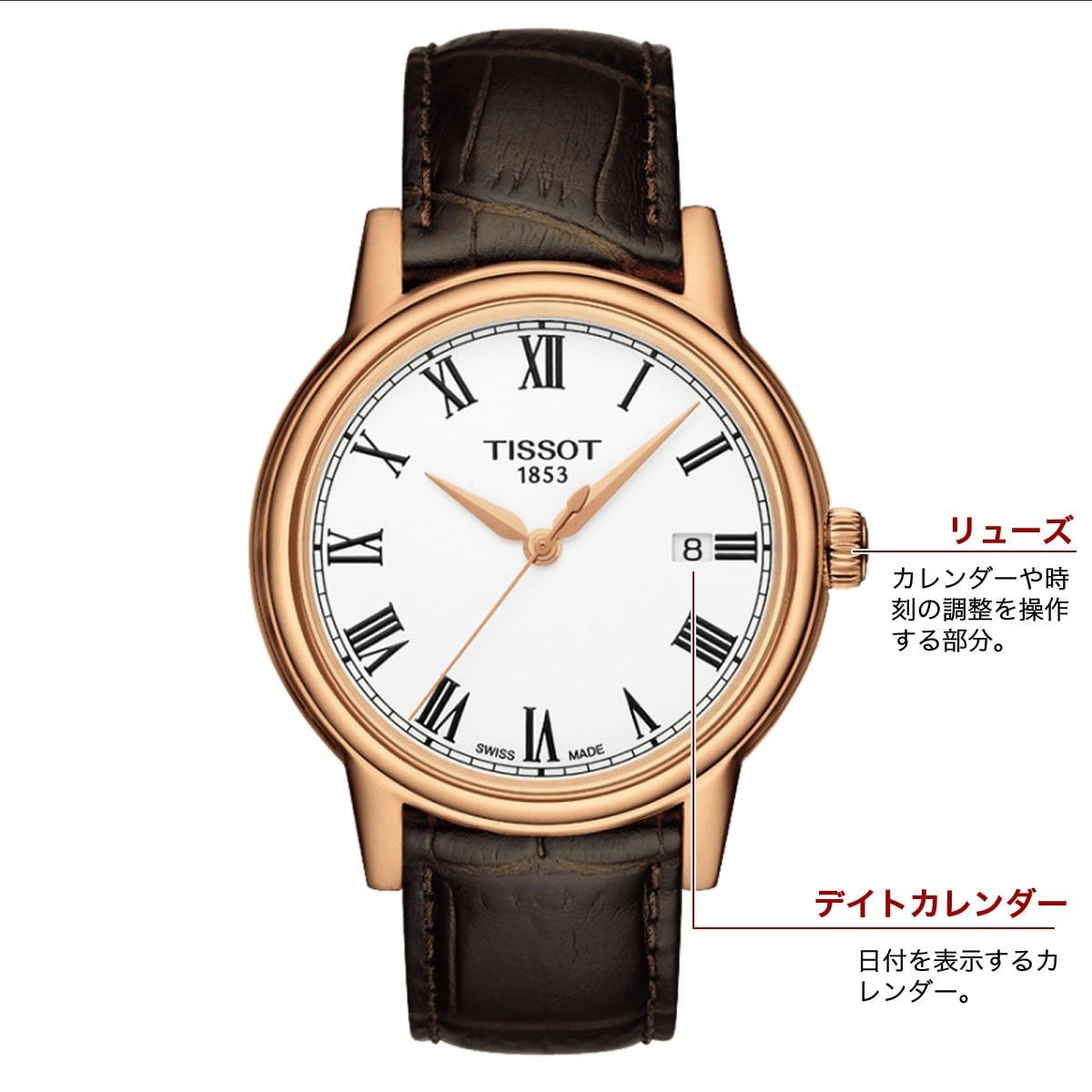 ティソ クォーツ 男性用腕時計t0854103601300