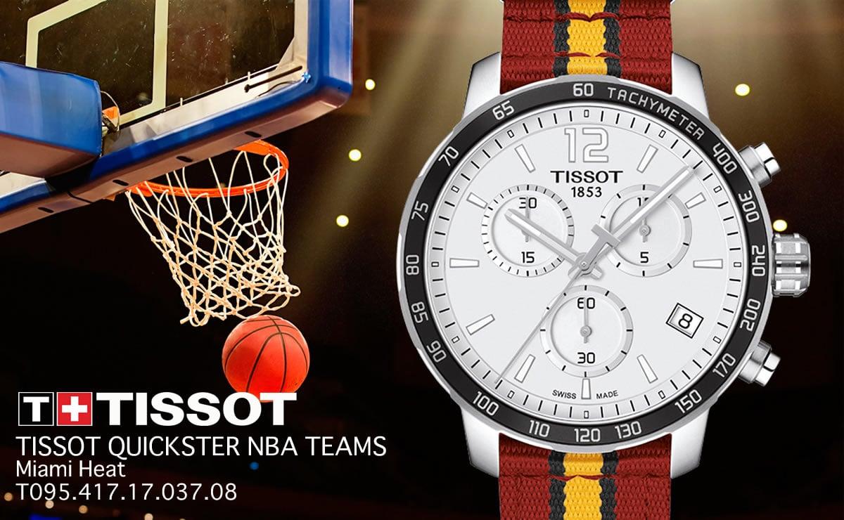 Tissot(ティソ)クイックスター NBAチームズ マイアミ・ヒート クォーツ クロノグラフ t0954171703708