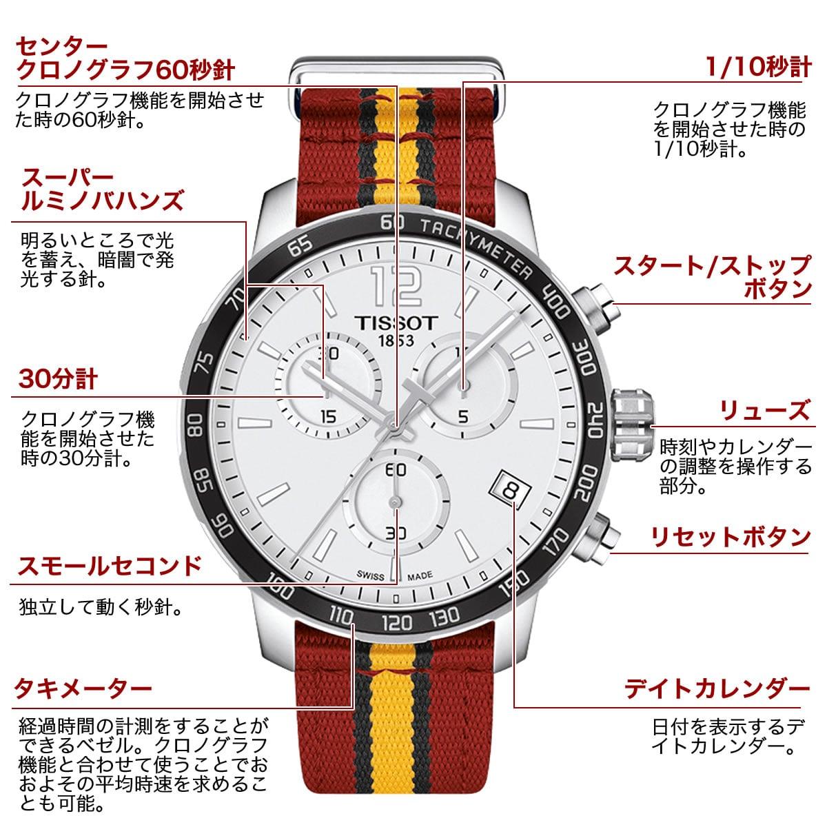 ティソ 男性用腕時計 t0954171703708 機能詳細