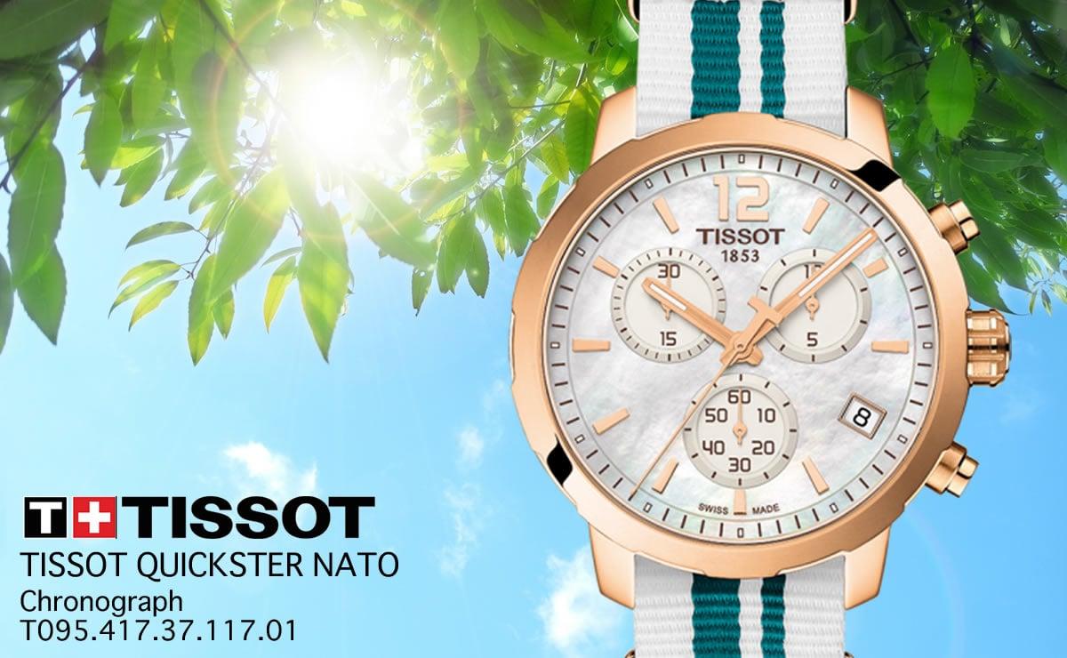 Tissot(ティソ)クイックスター NATO  クォーツ クロノグラフ t0954173711701