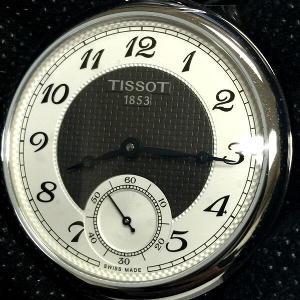 ティソ懐中時計 手巻き式 T860.405.29.032.00
