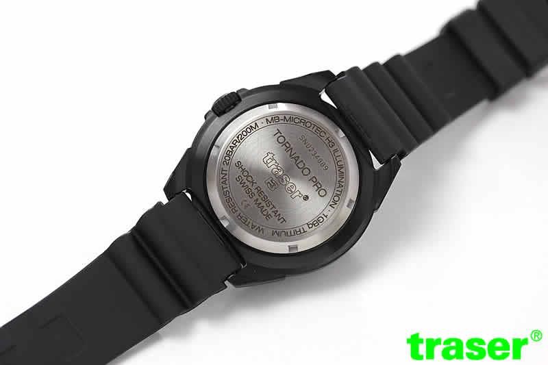 トレーサー(traser)/Tornado Pro (トルネード プロ)/ラバーベルト/9031567 腕時計 裏蓋