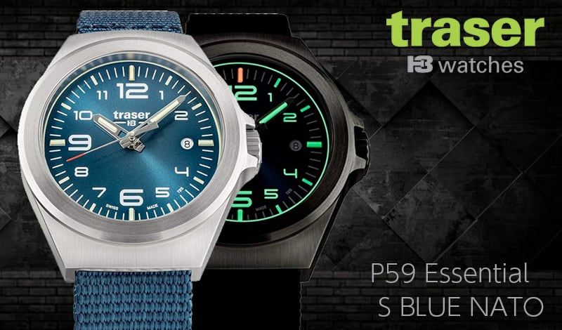 traser(トレーサー)P59 Essential S BLUE NATO 9031577
