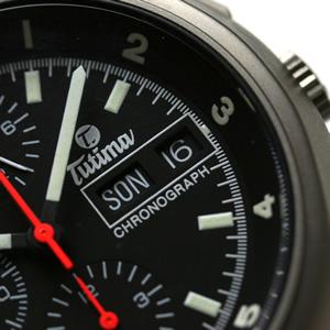 チュチマの腕時計のデイデイトカレンダー