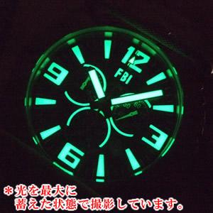 USAGENCY腕時計 蓄光画像 シリーズFBI