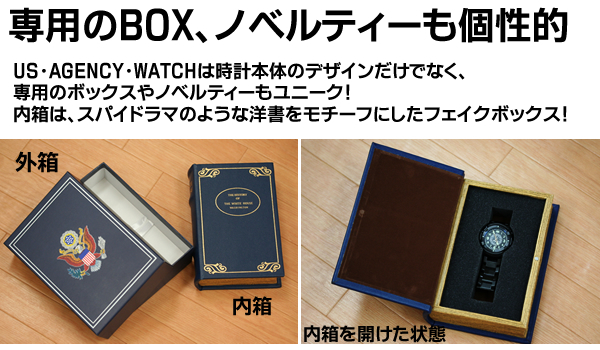 US.AGENCY.Watchのノベルティーとボックスはユニーク