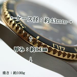 VICTORINOX SWISSARMY 時計 ケース大きさ