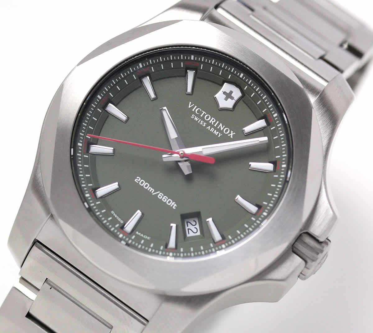 INOX ビクトリノックス グリーンカラー 腕時計