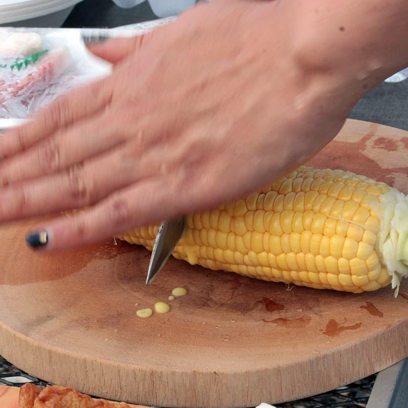 アウトドア 野菜 切る
