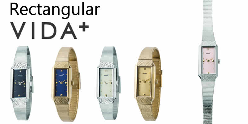 VIDA+ ヴィーダプラス レクタンギュラー 腕時計