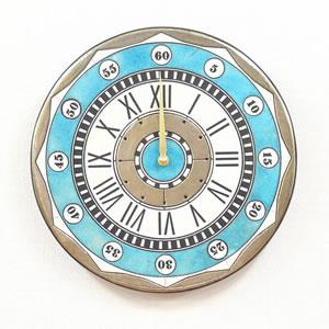 Antonio Zaccarellaアントニオ・ザッカレラ 掛け時計 ザッカレラZ135【zc135004】 ブルー  掛け(振り子無し)