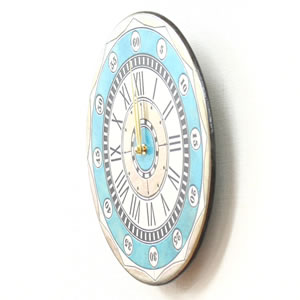 Antonio Zaccarellaアントニオ・ザッカレラ 掛け時計 ザッカレラZ135【zc135004】 ブルー  側面