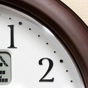CITIZEN シチズン電波掛け時計 インフォームナビW【4fy619-006】 木枠