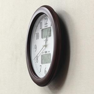 CITIZEN シチズン電波掛け時計 インフォームナビW【4fy619-006】 側面