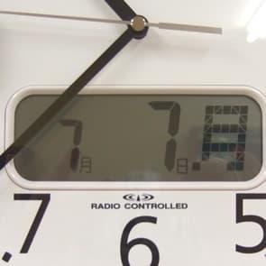デジタル表示のカレンダー付きシチズン掛け時計