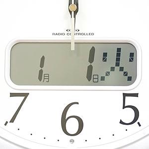 CITIZEN シチズン 電波掛け時計 ネムリーナカレンダーM02【4FYA02-019】 液晶表示 カレンダー機能