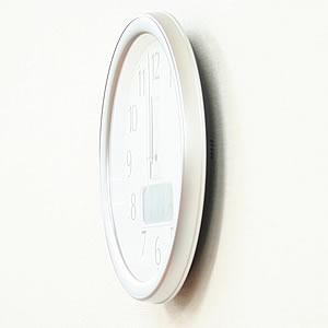 CITIZEN シチズン 電波掛け時計 ネムリーナカレンダーM02【4FYA02-019】 側面