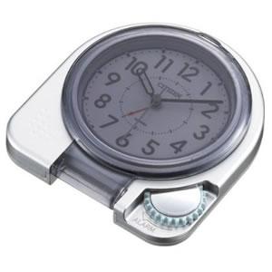 CITIZEN/シチズン 薄くてコンパクト/携帯用アラームトラベラー 目覚まし時計つき置き時計 アブロード962A 【4GE962A19】 ふたを閉じた状態