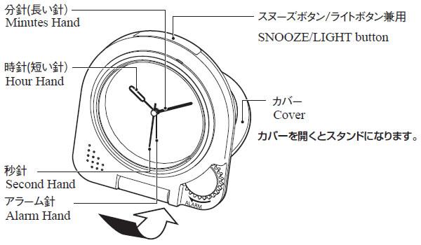 CITIZEN/シチズン 薄くてコンパクト/携帯用アラームトラベラー 目覚まし時計つき置き時計 アブロード962A 【4GE962A19】 商品詳細