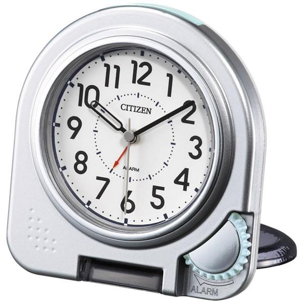 CITIZEN/シチズン 薄くてコンパクト/携帯用アラームトラベラー 目覚まし時計つき置き時計 アブロード962A 【4GE962A19】