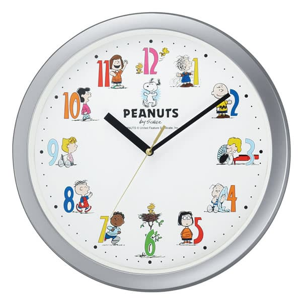 CITIZEN スヌーピーM712A 掛け時計 シルバーメタリック色【4KG712-MA19】