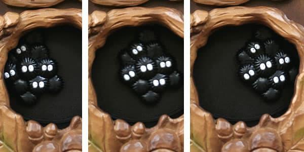 となりのトトロキャラクター掛け時計 トトロM837N【4MJ837MN06】 まっくろくろすけ 飾り振り子