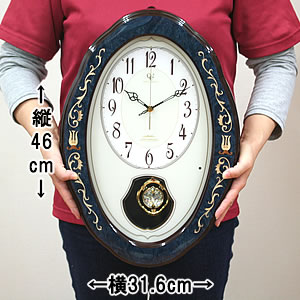 CITIZEN RHYTHM リズム 正時メロディ付き電波掛け時計 RHG-M90【4mn461hg11】 サイズ