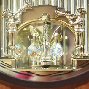 SmallWorld 高音質電波からくり掛け時計 スモールワールドディスプリーズF【4MN472RB06】 回転飾り