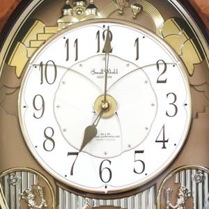SmallWorld 高音質電波からくり掛け時計 スモールワールドディスプリーズF【4MN472RB06】 パフォーマンス1
