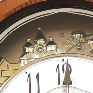 SmallWorld 高音質電波からくり掛け時計 スモールワールドディスプリーズF【4MN472RB06】 装飾