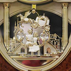 シチズン 電波掛け時計 スモールワールドM483 【4MN483RH23】  飾り振子