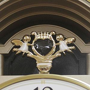 シチズン 電波掛け時計 スモールワールドM483 【4MN483RH23】  装飾