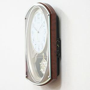 シチズン 電波掛け時計 スモールワールドポラールG 【4MN506RH23】 側面