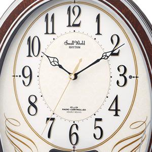 シチズン 電波掛け時計 スモールワールドマリール 【4MN508RH06】 文字盤