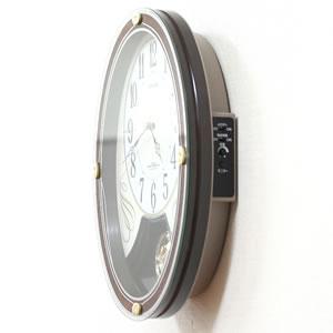 シチズン 電波掛け時計 スモールワールドマリール 【4MN508RH06】 側面