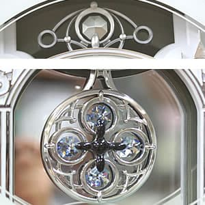 CITIZEN シチズン 電波掛け時計 スモールワールドプラウド【4MN523RH05】 装飾