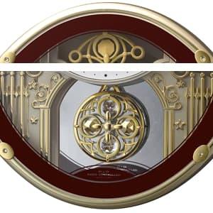 CITIZEN シチズン 電波掛け時計 スモールワールドプラウド【4MN523RH06】 装飾