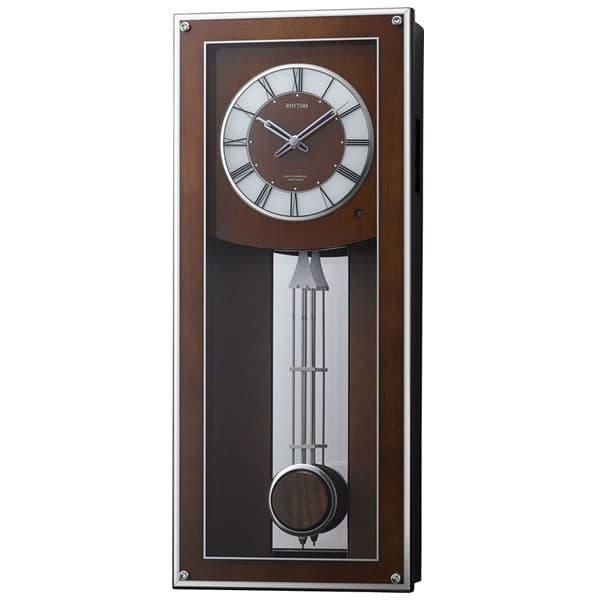 RHYTHM リズム 電波 振り子 掛け時計 プライムフィールド 4MN522RH06